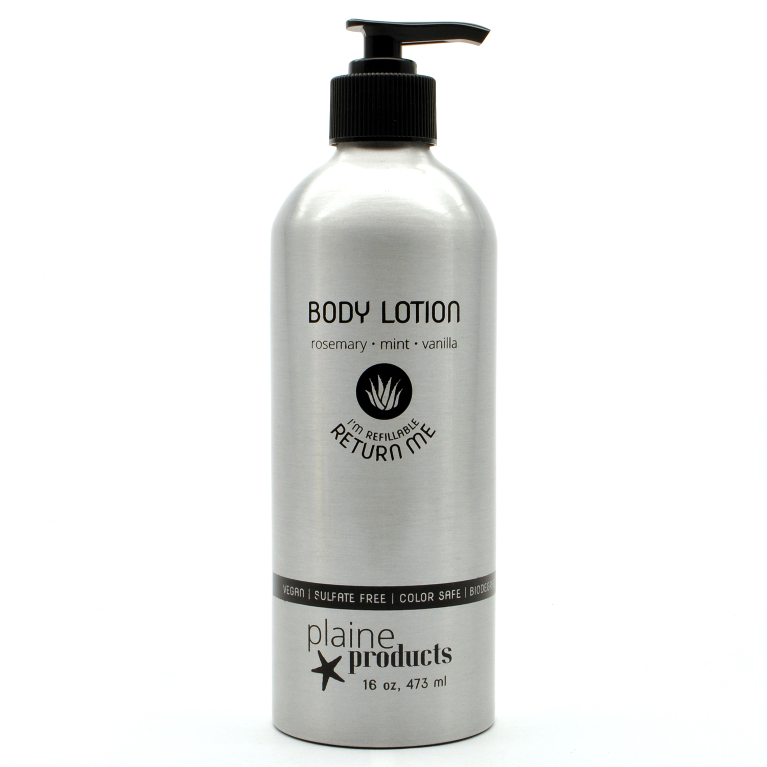 Refillable, Reusable, Rosemary Mint Vanilla Body Lotion