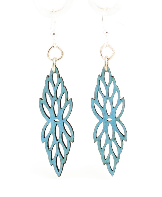 Vertical Blossoms #109 – Wood Earrings