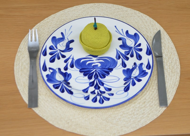 Round Woven Placemats in Iraca (Set of 6)