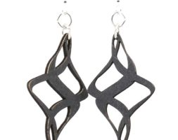 Ribbon Twirl Earrings #1510 – Laser Cut Earrings From Reforested Wood