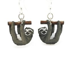Sloth Earrings #1540 – Wood Earrings – Eco Friendly