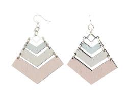 Pastel Chevron Earrings #1659