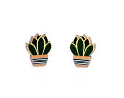 Succulent Stud Earrings #3042