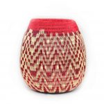 Decorative Vase in Red Werregue – White Pattern
