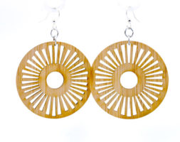 Tribal Sun Bamboo Earrings #983