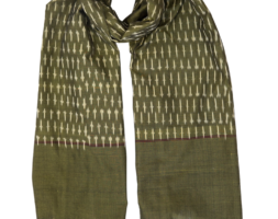 Classic Olive Ikat Scarf