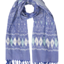 Denim & Teal Ikat Scarf