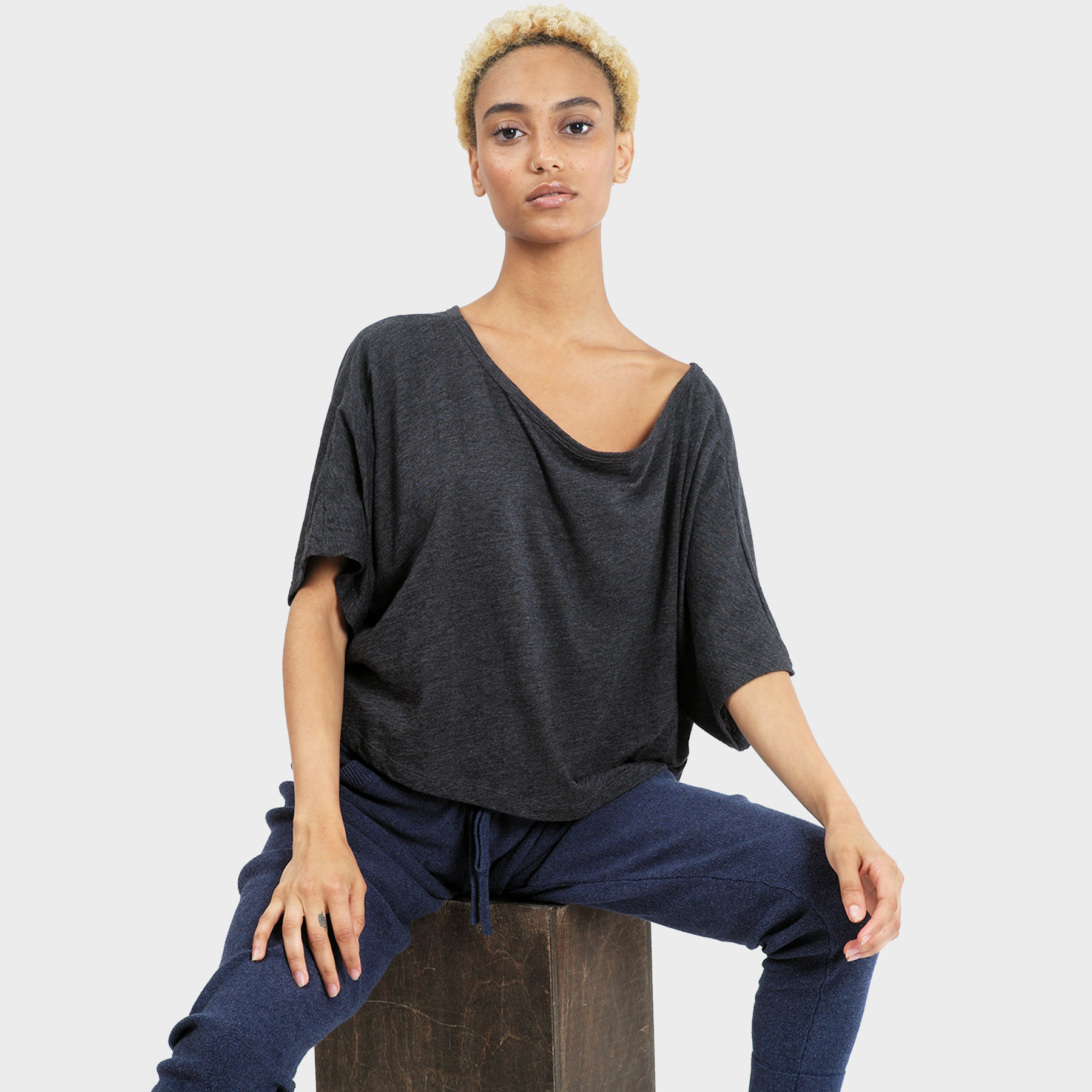 Lumi Crop Top – Heather Charcoal