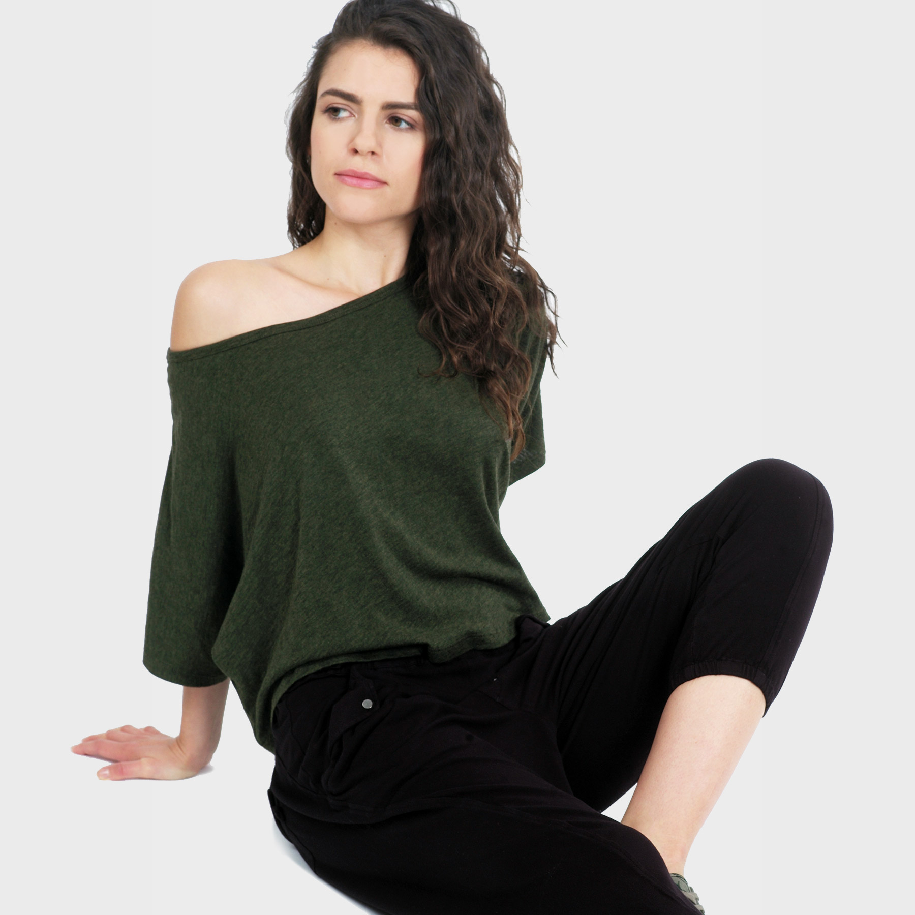 Lumi Crop Top – Heather Forest