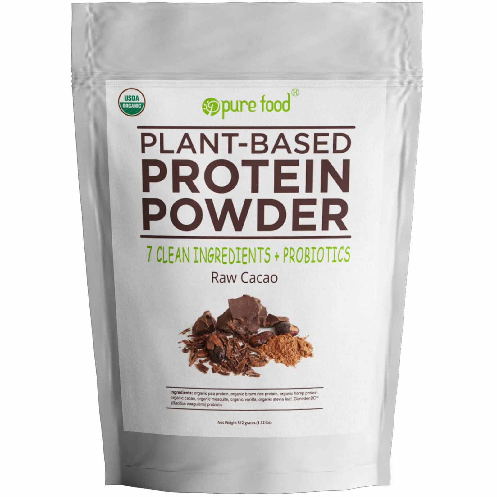 Pure Food Chocolate Protein Powder