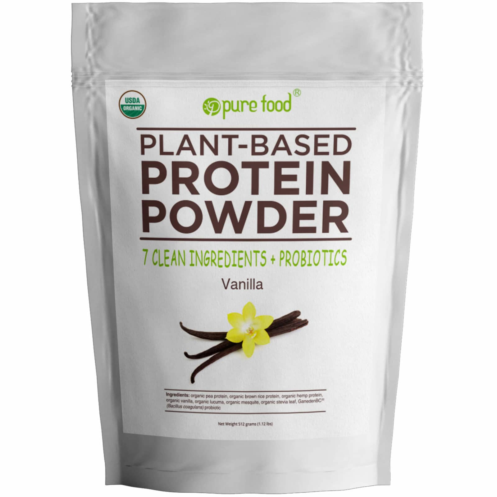 Pure Food Vanilla Protein Powder