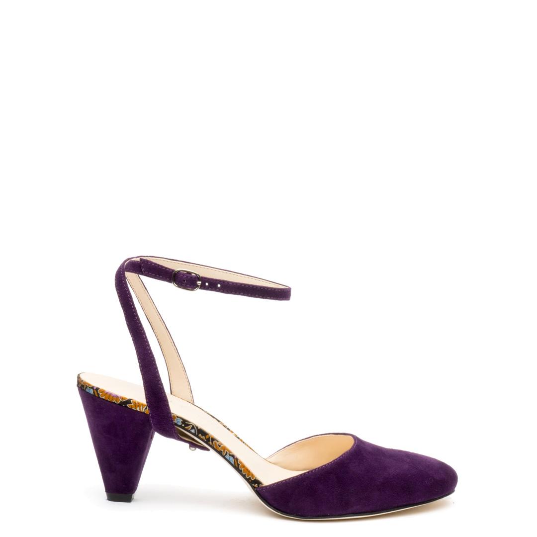 Purple Suede Mule + Purple Suede Marilyn