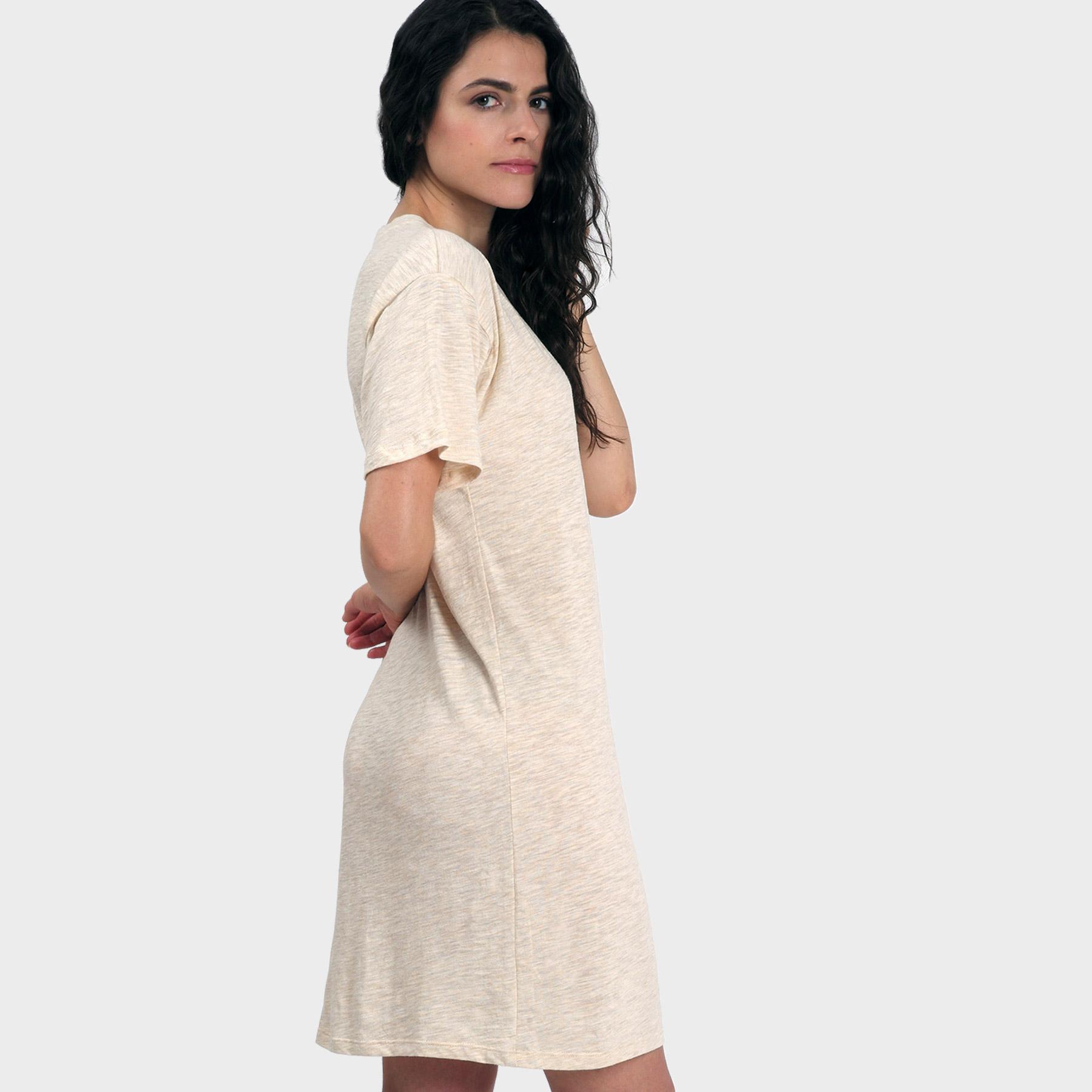 Mika T-Shirt Dress – Heather Almond
