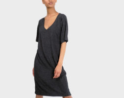 Mika T-Shirt Dress – Heather Charcoal