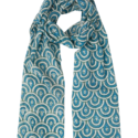 Peacock Teal Scarf