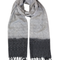Grey w/ Black Timeless Ikat Scarf