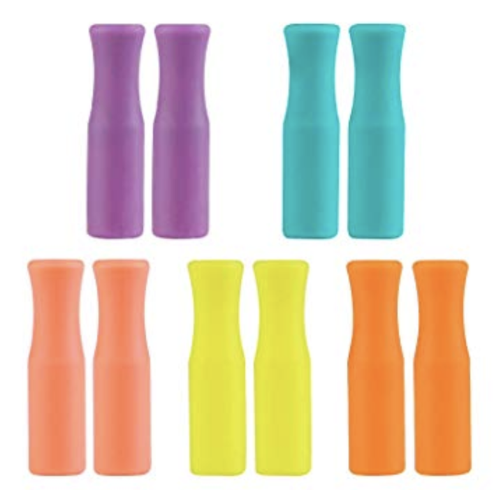 Silicone Straw Tips | 4 pack