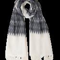 Winter Grey Ikat Scarf