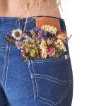 Indigo Leaf Dyed Jean Shorts