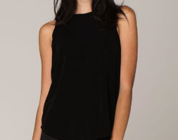 Luna Evening Tank in Black