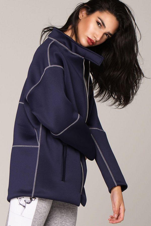 om jacket in navy blue side