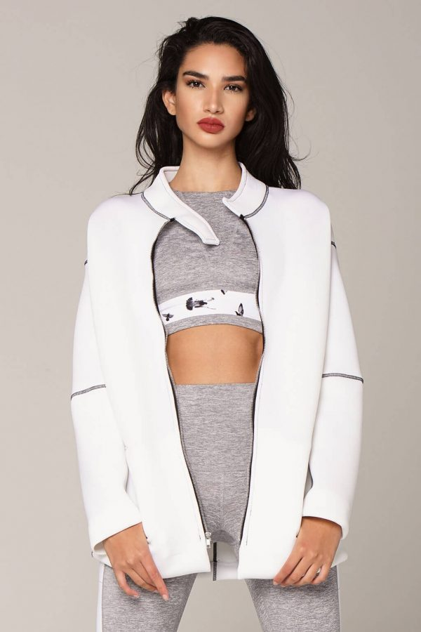 om jacket in white front