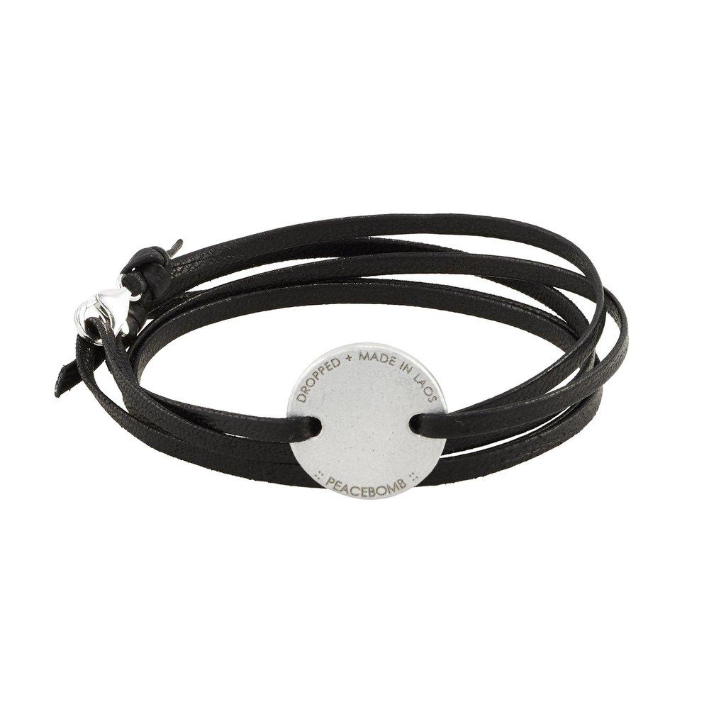 Upcycled Bomb Coin Wrap Bracelet