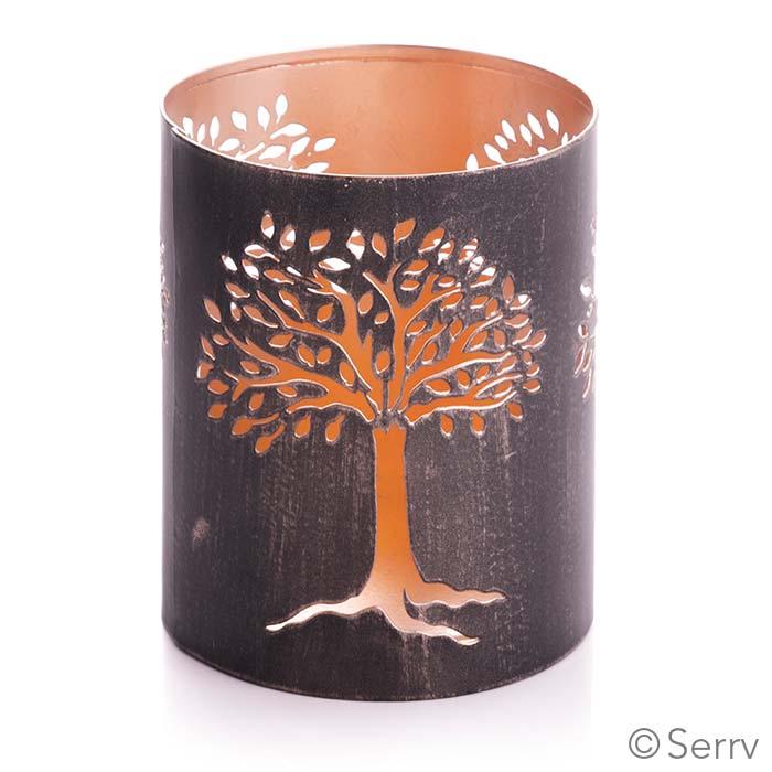 Recycled Iron Tree of Life Lantern