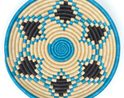 Boutique Turquoise Star Woven Bowl