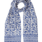 Bright Blue Abstract Scarf