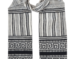 Black & White Key Scarf