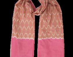 Sari Pink Ikat Scarf