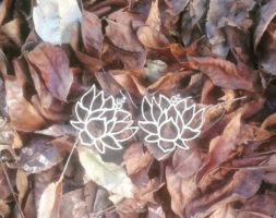 Lotus Wood Earrings #1380
