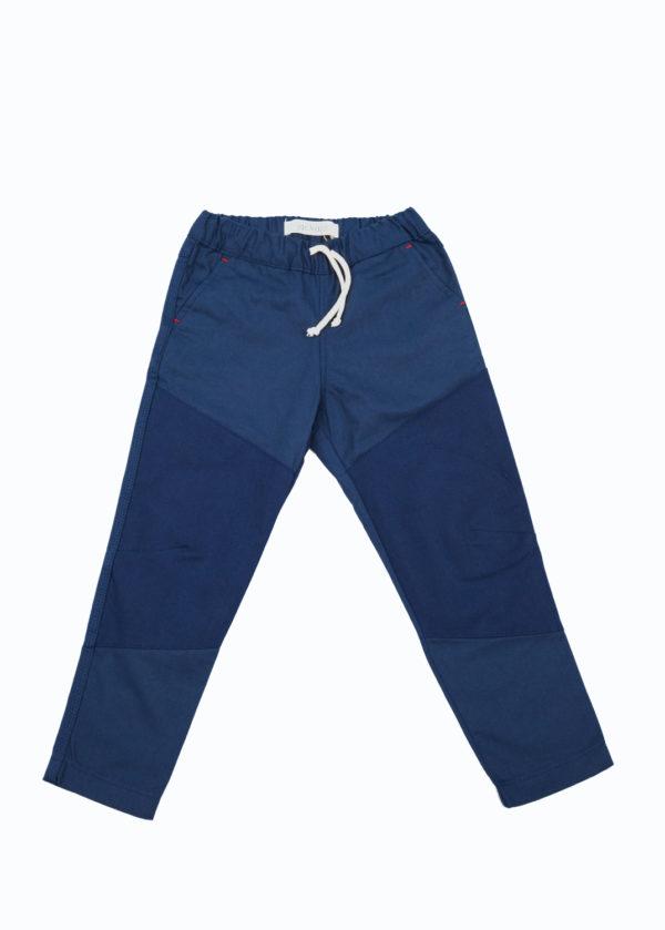Jackalo Ash pants in blue organic twill