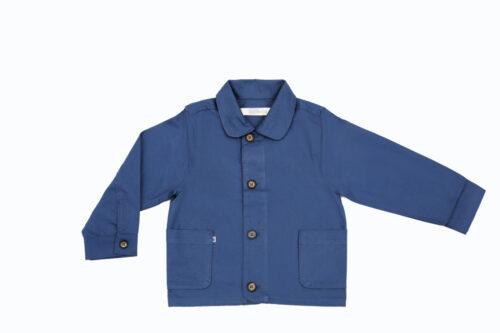 Jackalo Billie jacket in blue organic cotton twill