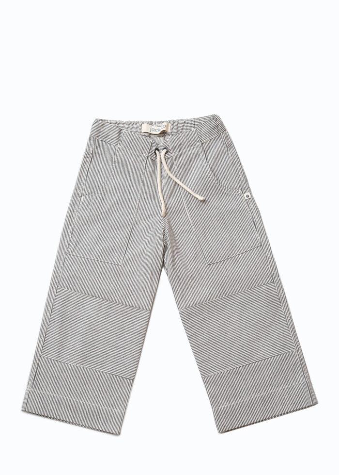 Jackalo Charlie pants in engineer's stripe organic cotton