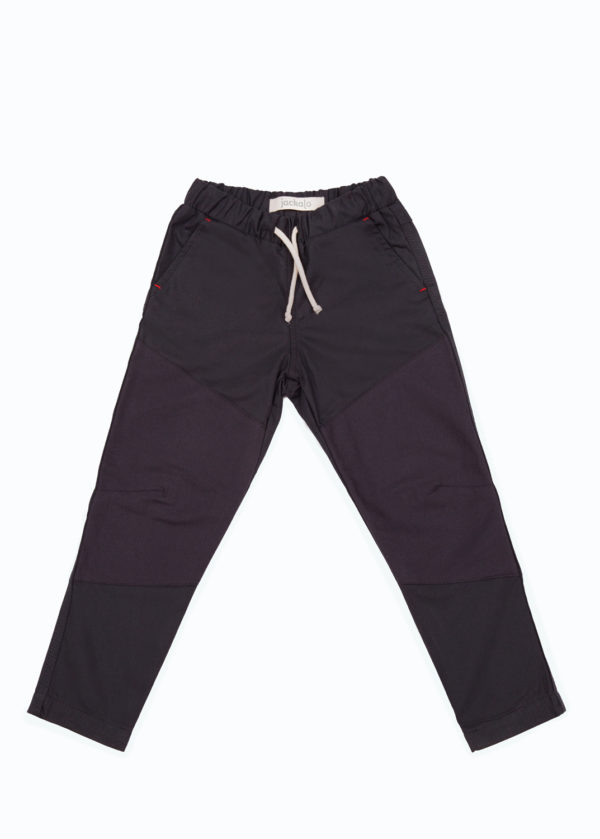 Jackalo lined Ash pants in anthracite organic cotton twill