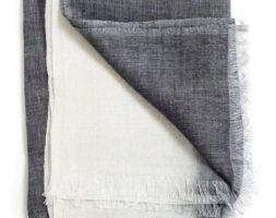 Handwoven  Scarf- Graninte Linen byStudio Variously