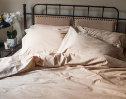 Organic Cotton Sheets-  American Made Dye Free by American Blossom Linens