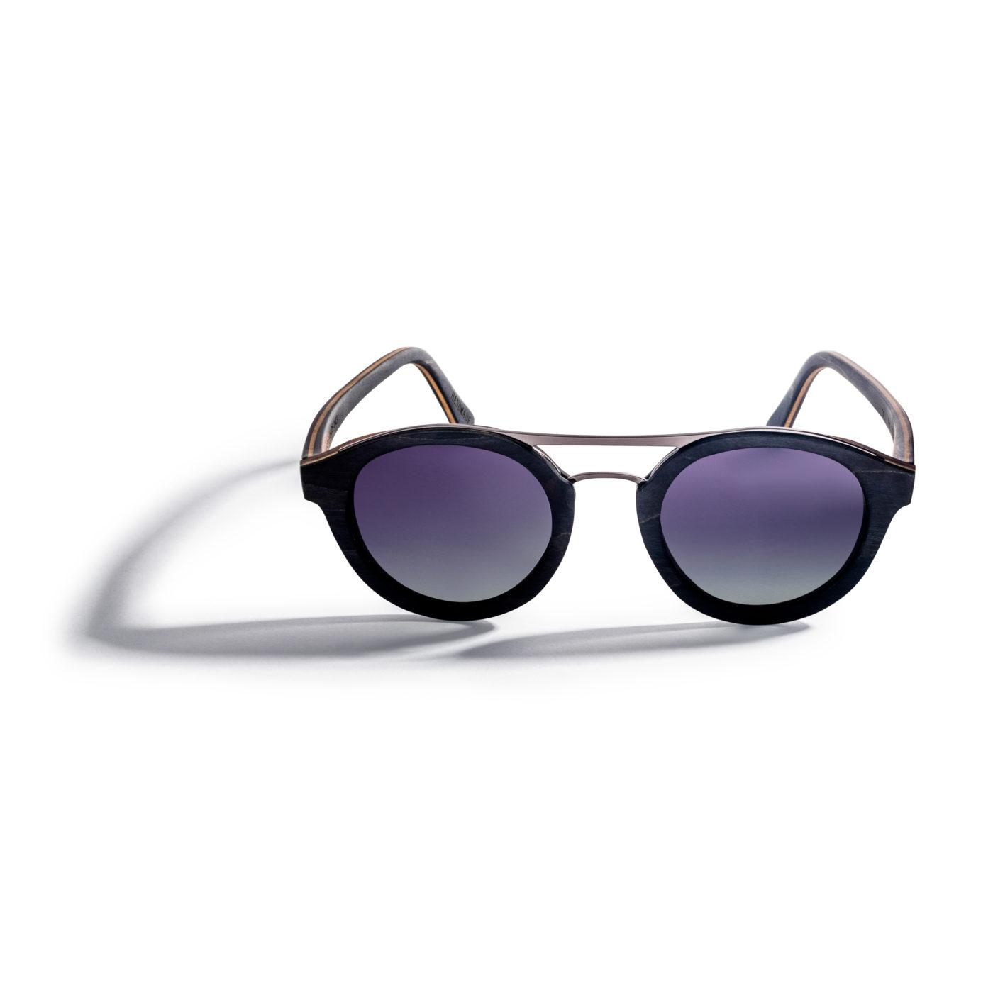 Kraywoods men vintage aviator walnut wood sunglasses polarized lenses