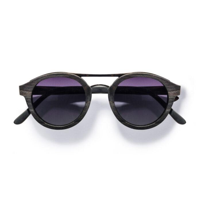 Kraywoods men retro aviator walnut wood sunglasses polarized lenses