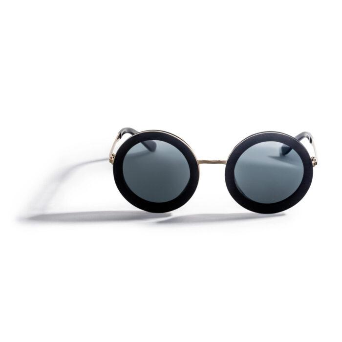 Kraywoods oversized round wood sunglasses polarized