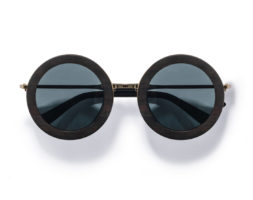 Birch- Round Ebony Wood Sunglasses by Kraywoods