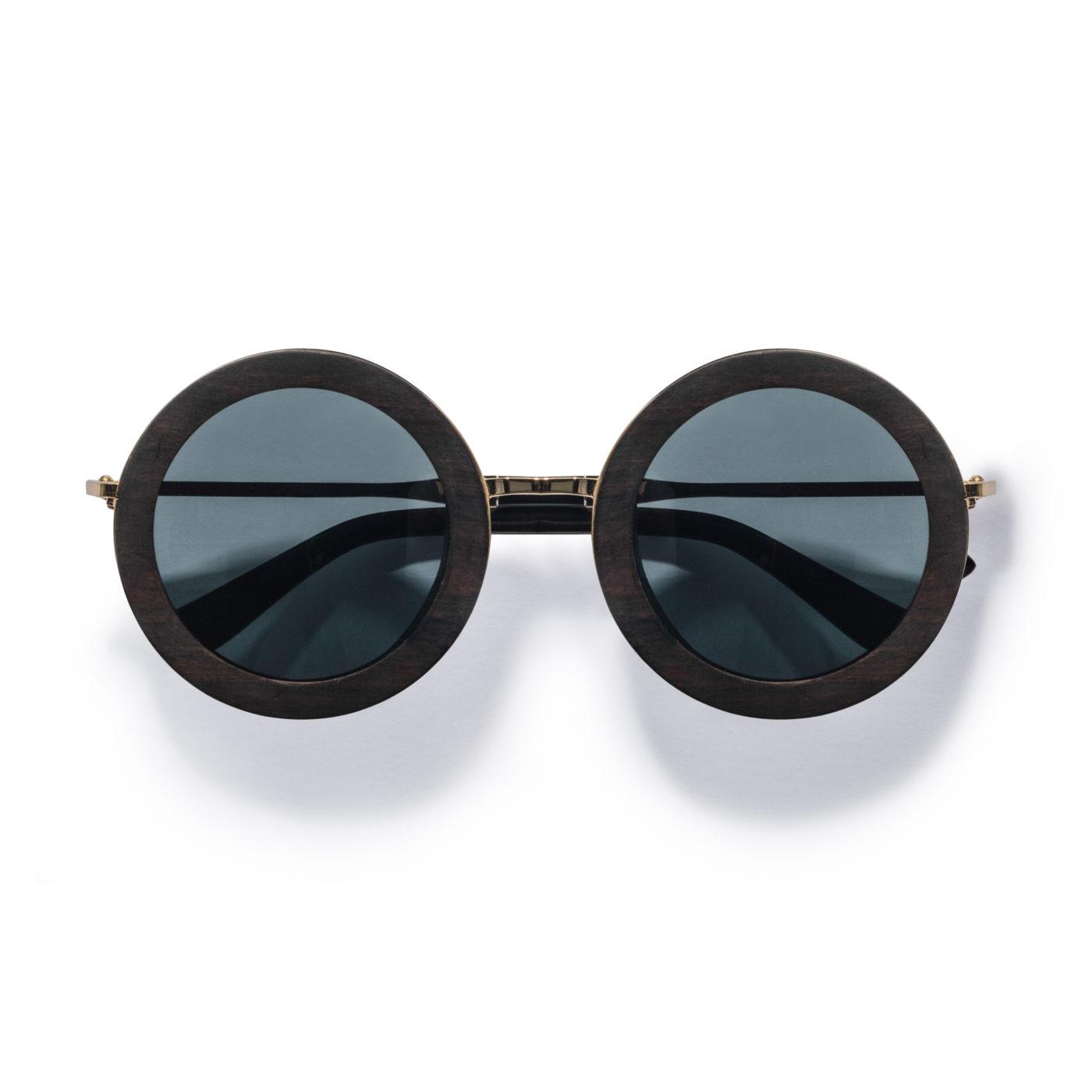 Kraywoods oversized round wood sunglasses, polarized lenses
