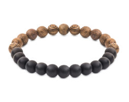 Oak & Onyx Bracelet by Kraywoods