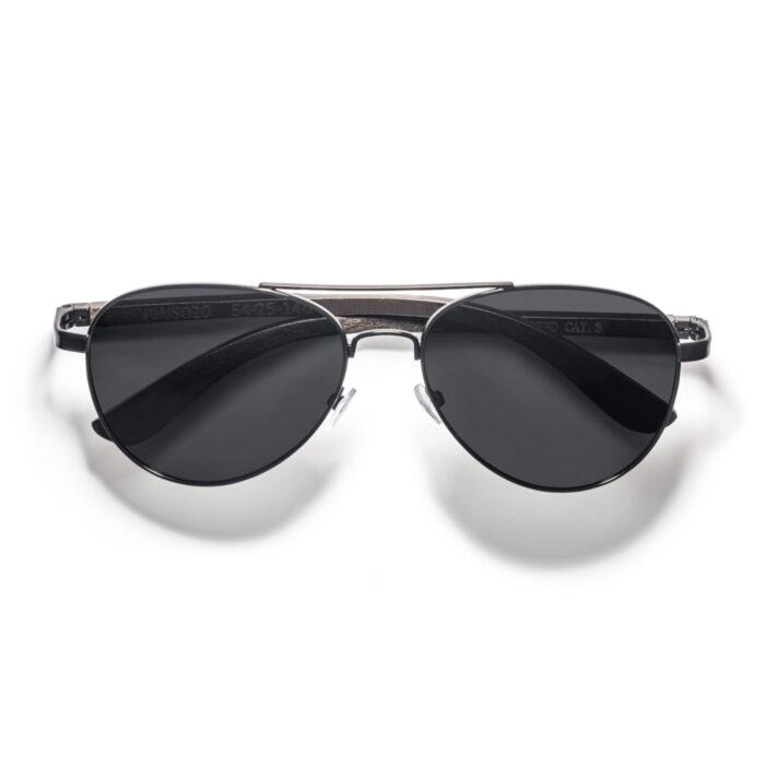 men aviator ebony wood sunglasses polarized 100% uv protection