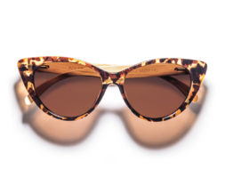 Stella- Tortoise Frames Bamboo Arms Sunglasses by Kraywoods