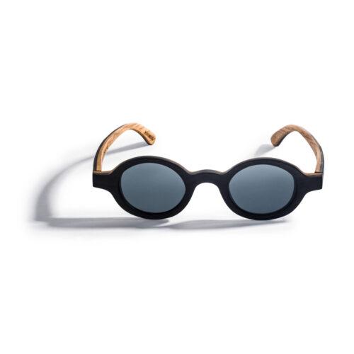 Kraywoods small round ebony wood sunglasses polarized