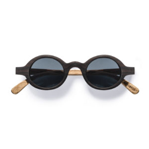 Kraywoods small round ebony wood sunglasses polarized