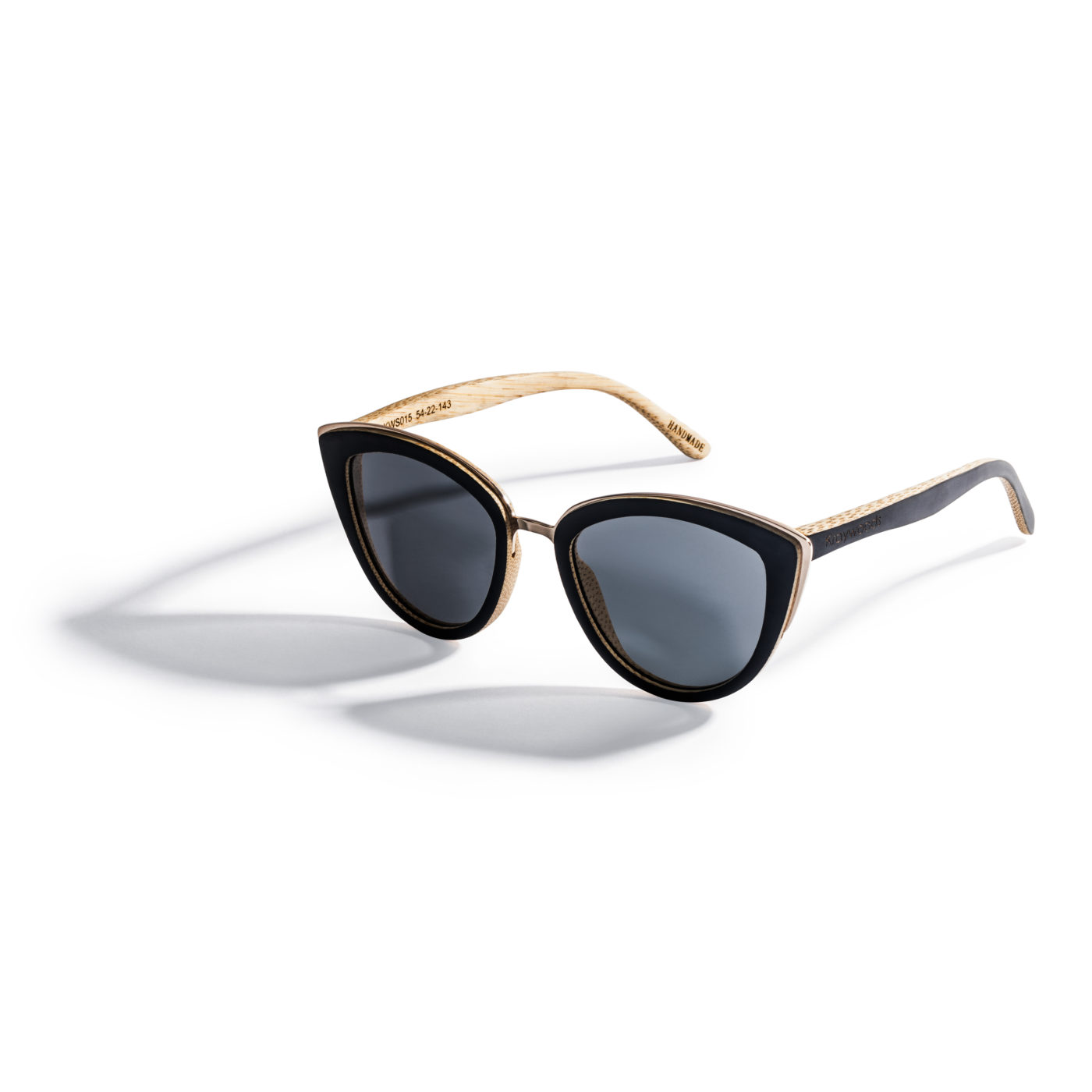 Kraywoods women cat eye bamboo sunglasses made with polarized lenses